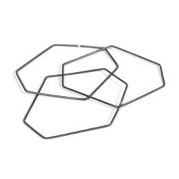 Line + Dot – Hex Tri Bangles