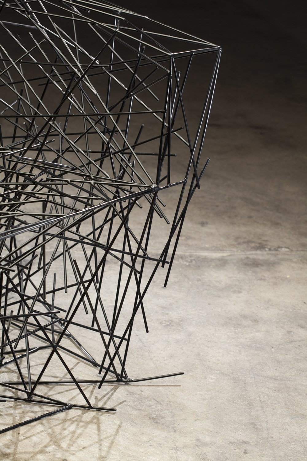 Black Iron Chair Detail