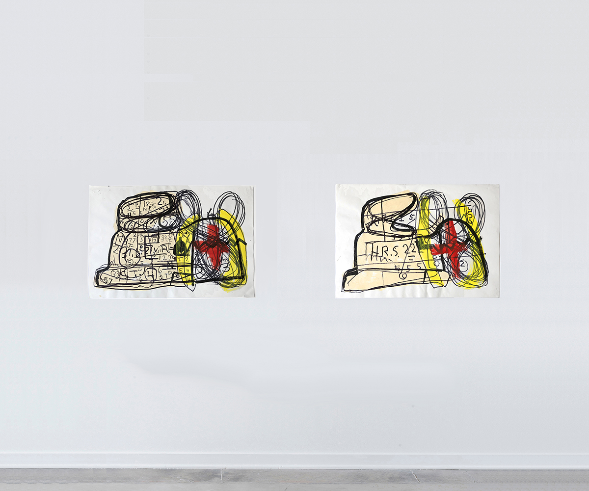 Luchs-red_and_yellow_rabbits_with_floor_2019_DESOUSA_GALLERYweb